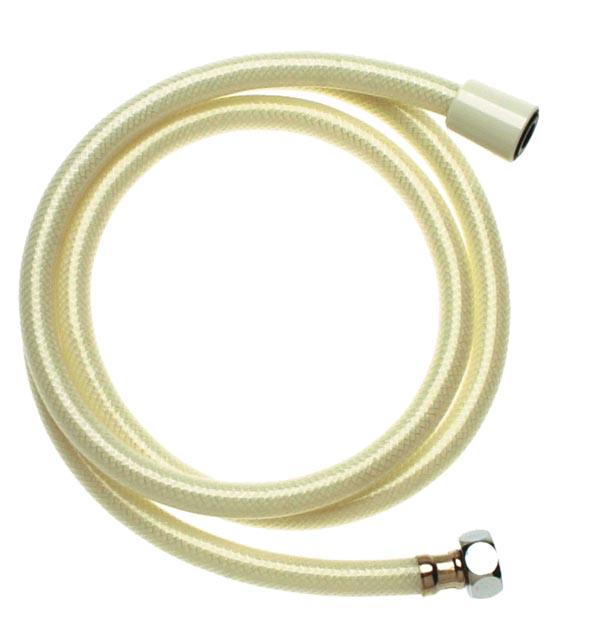 Flexible hand held shower hose white boston - Hand shower hose ...