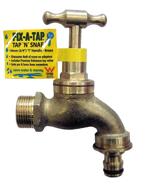Tap n snap brass t handle fix a