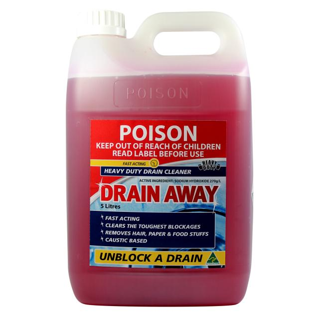 Drain Away Caustic Drain Cleaner