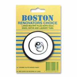 Renovators Choice Chrome Plated Brass Plug - Large