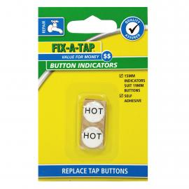 Tap Button Stick On - Hot & Cold Indicators