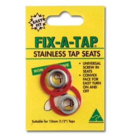 Stainless Steel Tap Seats 2 Pack