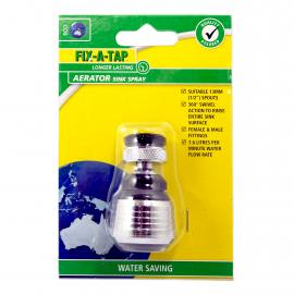 Sink Spray Aerator - Chrome & Black