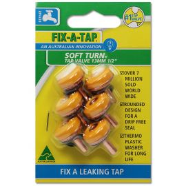Soft Turn Tap Valve 6 Pack